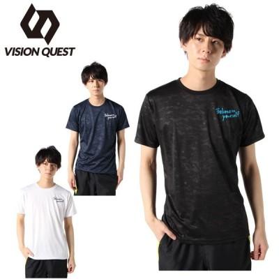 陸上 ウェア 半袖Tシャツ メンズ 陸上文字Tシャツ VQ561012J01 ビジョンクエスト VISION QUEST