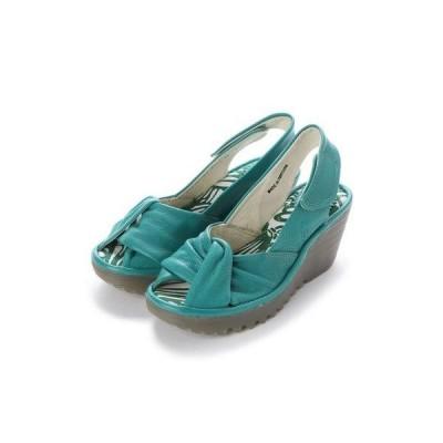 ヨーロッパコンフォートシューズ EU Comfort Shoes FLYLONDON サンダルパンプス(500.124) (ターコイズ)