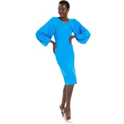 アイエヌシーインターナショナルコンセプト ワンピース トップス レディース INC Raglan-Sleeve Knit Dress, Created for Macy's Bright Peacock