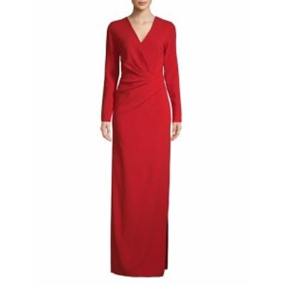 ランバン レディース ワンピース Long-Sleeve Column Gown