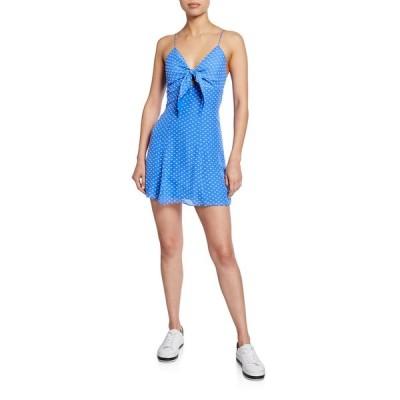 アリス アンド オリビア レディース ワンピース トップス Roe Tie-Front Sleeveless Mini Dress