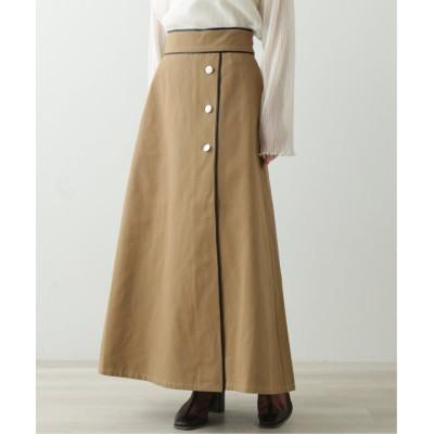 【レイカズン】 レザーパイピングスカート レディース ブラウン FREE Ray Cassin