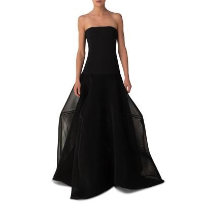 アクリス レディース ワンピース トップス Structured Mesh Strapless Long Gown