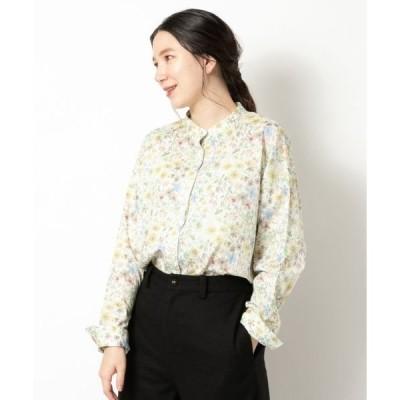 NIMES / ニーム LIBERTY PRINTスタンドカラーシャツ
