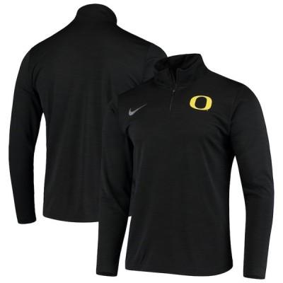 """ナイキ メンズ ジャケット """"Oregon Ducks"""" Nike Primary Logo Intensity Performance Quarter-Zip Jacket - Black"""