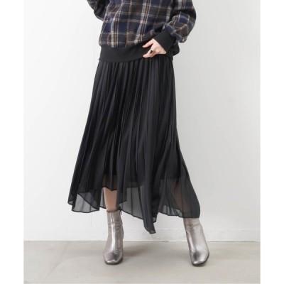 スカート LC/LLL 変形ヘムプリーツスカート
