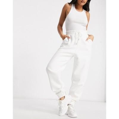 エイソス レディース カジュアルパンツ ボトムス ASOS DESIGN Hourglass super oversized sweatpants in winter white