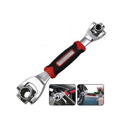 【新品】xie Wrench 48 in 1 Tools Socket Works with Spline Bolts Torx 360 Degree 6-P