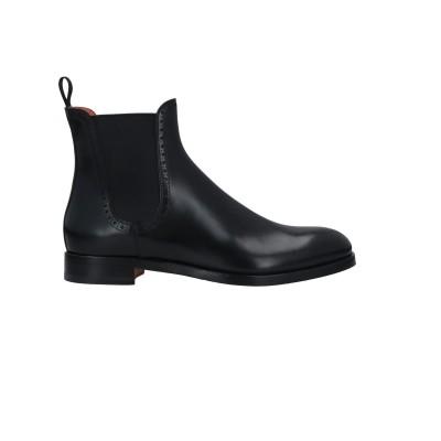 SANTONI ショートブーツ ブラック 36 革 ショートブーツ