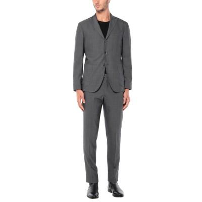 ボリオリ BOGLIOLI スーツ 鉛色 52 バージンウール 100% スーツ