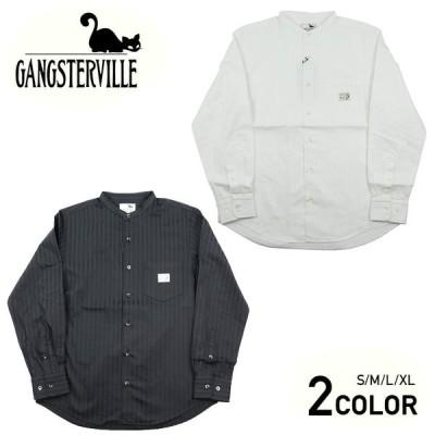 ギャングスタービル スタンドカラーシャツ 長袖 メンズ GANGSTERVILLE SOCIAL LOUNGE - L/S SHIRTS GLADHAND グラッドハンド WEIRDO ウィアード オールドクロウ