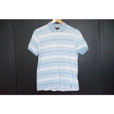 #snc エトロ ETRO ポロシャツ M 白 水色 半袖 ボーダー メンズ [658640]