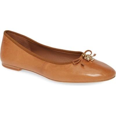 トリー バーチ TORY BURCH レディース スリッポン・フラット バレエシューズ シューズ・靴 Logo Charm Ballet Flat Tan