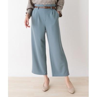 SHOO・LA・RUE / 【M-L】ベルト付きツイルハイウエストワイドパンツ WOMEN パンツ > パンツ