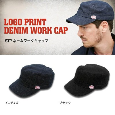 【送料無料】 STP ワンポイントロゴワークキャップ インディゴ ブラック おしゃれ アメカジ 正規ライセンス商品