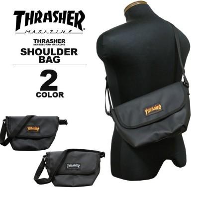 【SALE】 スラッシャー THRASHER ショルダーバック MINI SHOULDER BAG ショルダーバック ポーチ ミニ メンズ レディース ブラック 黒