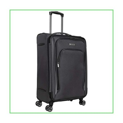 "【全国送料無料】Kenneth Cole Reaction Cloud City 24"" Lightweight Softside Expandable 8-Wheel Spinner Checked Travel Luggage, Charc"
