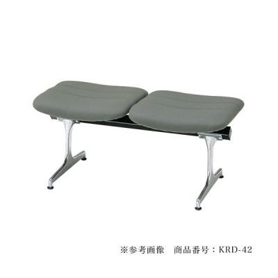 【法人限定】 ロビーチェア 背なし 2人用 病院 待合室 いす 合成皮革 レザー RD-42L