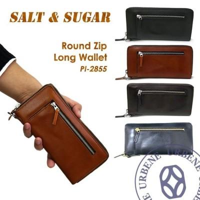ソルト & シュガー 財布 長財布 salt & sugar PIN ピン ラウンドジップロングウォレット 革財布 メンズ レディース おしゃれ