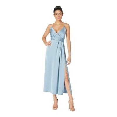 ジルスチュアート レディース ワンピース トップス T-Length Satin Wrap Dress
