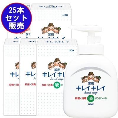 【25個セット販売:送料無料】ライオン キレイキレイ薬用液体ハンドソープ250ml ノベルティギフト用化粧箱入