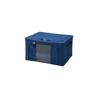 ds-2359962 (まとめ)YAMAZEN 積み重ねができる収納ボックス ネイビー WYTC-TSB(NV) 1個 【×3セット】 (ds2359962)