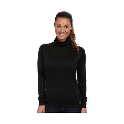 Hot Chillys ホットチリーズ レディース 女性用 ファッション アクティブシャツ Peachskins Roll T-Neck - Black