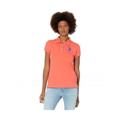 U.S. POLO ASSN. USポロ レディース 女性用 ファッション ポロシャツ USPA Solid Polo - Cayenne