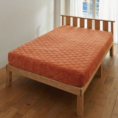 パッド一体型ベッドシーツ(ふわふわマイクロ) シングル(100×205×高さ25)|1809-888138