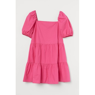 H&M - H&M+ コットンショートワンピース - ピンク