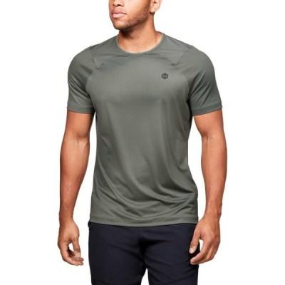 アンダーアーマー Under Armour メンズ Tシャツ トップス Heat Gear Rush Fitted Short Sleeve Tee Gravity Green/Black
