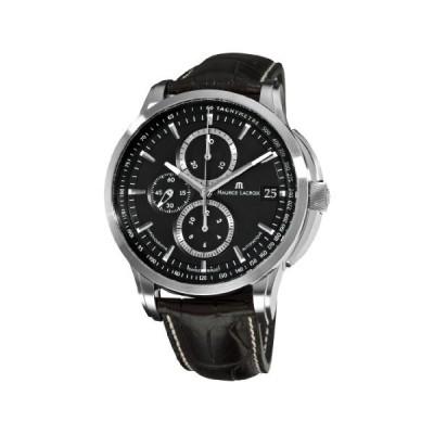 Maurice Lacroix Men's PT6128-SS001330 Pontos Black Chronograph Dial Watch 並行輸入品