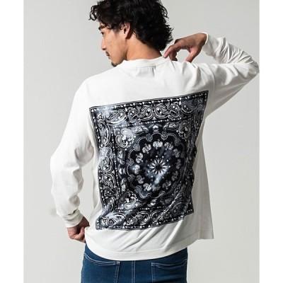 tシャツ Tシャツ バックペイズリープリントクルーネック長袖Tシャツ / CATN20-61【/】