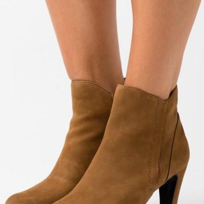 カプリス レディース ブーツ High heeled ankle boots - wood