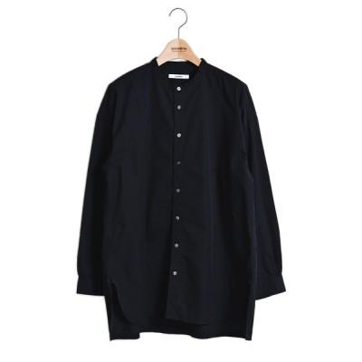 シャツ ブラウス 70/1ピマ高密度ツイルスタンドカラーシャツ