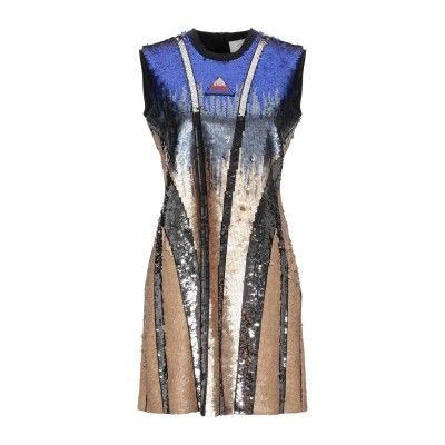 SPORTMAX ミニワンピース&ドレス プラチナ XS ポリエステル 100% ミニワンピース&ドレス