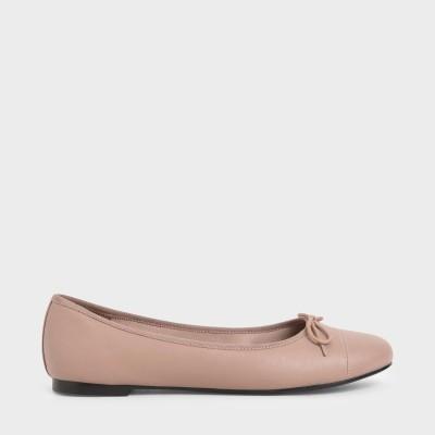 ボウバレリーナ フラット / Bow Ballerina Flats (Pink)
