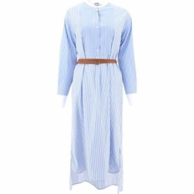 ロエベ Loewe レディース ワンピース シャツワンピース ワンピース・ドレス Striped Shirt Dress Light Blue
