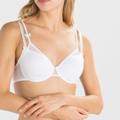 レディース ファッション MISS JOY DEKORIERTER SPACER - Underwired bra - white