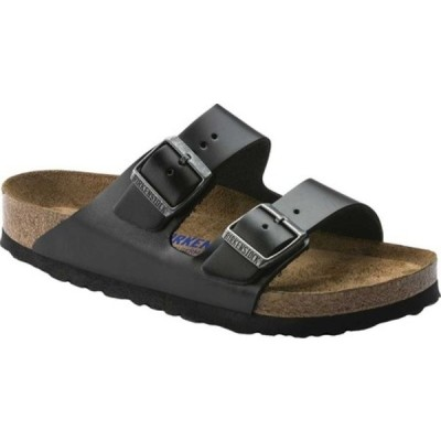 ビルケンシュトック スニーカー シューズ レディース Arizona Amalfi Leather Sandal with Soft Footbed Black Amalfi Leather