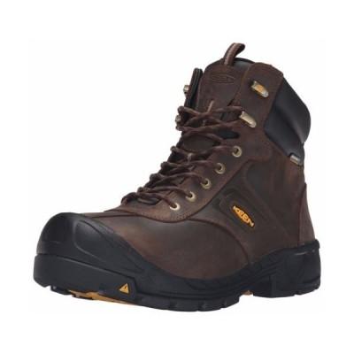 ブーツ キーン Men's KEEN Utility Warren Waterproof Work Boots CASCADE BROWN 1015397