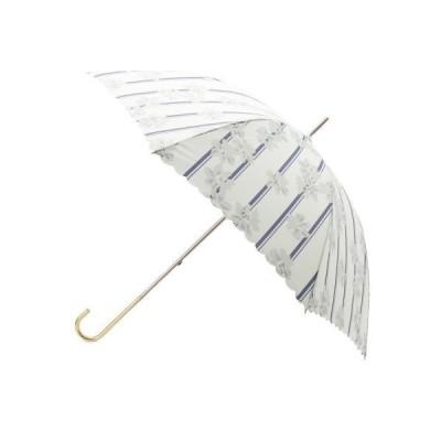 grove / グローブ ストライプフラワー長傘(晴雨兼用)