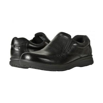Nunn Bush ナンブッシュ メンズ 男性用 シューズ 靴 ローファー Cam Moc Toe Slip-On - Black Tumbled Leather