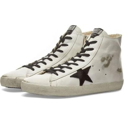 ゴールデン グース Golden Goose メンズ スニーカー シューズ・靴 Francy Leather Hi Sneaker White/Black