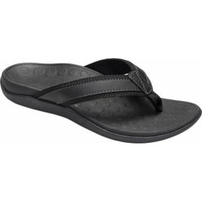 バイオニック メンズ サンダル シューズ Men's Vionic Tide Toe Post Sandal Black