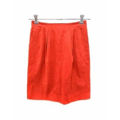 【中古】アーバンリサーチ URBAN RESEARCH スカート 台形 ミニ F 赤 レッド /YK レディース
