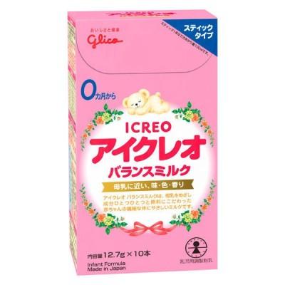江崎グリコ【0ヶ月から】アイクレオのバランスミルク スティックタイプ 12.7g×10本 アイクレオ 粉ミルク