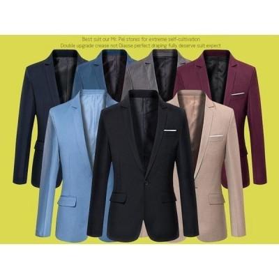 テーラードジャケットメンズアウターショート丈コート全5色カラージャケット無地フォーマルオフィス