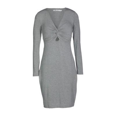 ALEXANDERWANG.T ミニワンピース&ドレス グレー XS レーヨン 95% / ポリウレタン 5% ミニワンピース&ドレス