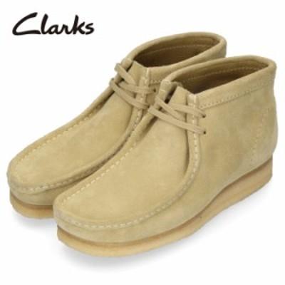 クラークス ワラビー ブーツ メンズ Clarks Wallabee Boot 980E メープル スエード ベージュ 本革
